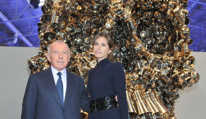 François Pinault and Dasha Zhukova