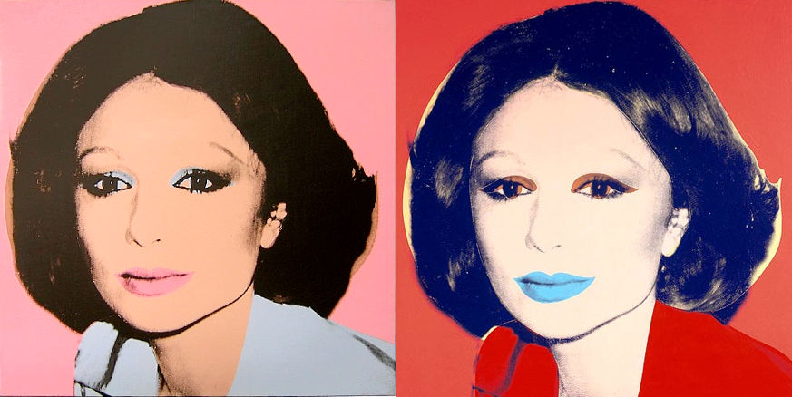 Portraits of Empress Farah Diba Pahlavi (Empress of Iran) by Andy Warhol, 1977