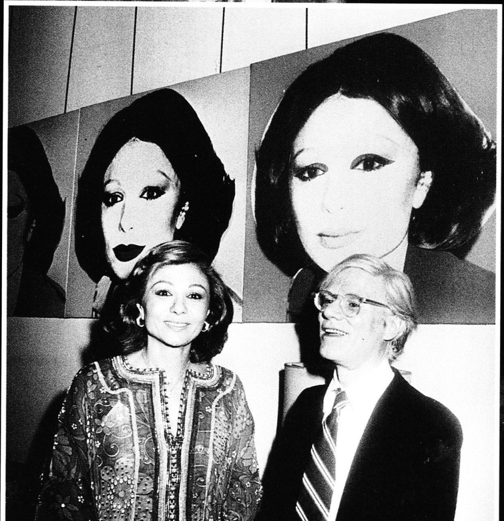 Farah Diba Pahlavi and Andy Warhol in 1977