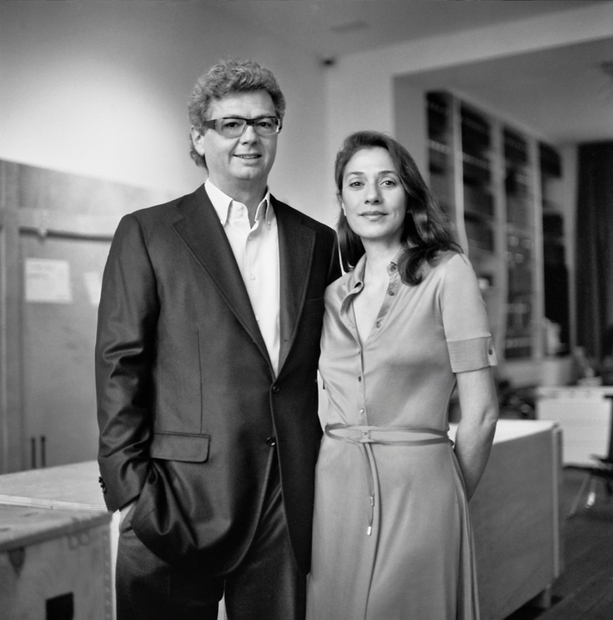 Myriam and Amaury de Solages, founders of Maison Particulière, a private residence now open to the public, dedicated to temporary art exhibitions, in the heart of Brussel. Photo Copyright Annabel Sougne