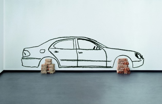 "Robin Rhode ""Car on Bricks"" (2008) Edition Schellmann"