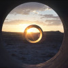 Sun Tunnels 1973-76  Site: The Great Basin Desert in Northwestern Utah, about 4 miles southwest of Lucin (pop. 10) and 9 miles east of the Nevada border.  Dimensions: Total length: 86 ft. Tunnel length: 18 ft. Tunnel diameters outside: 9 ft. 2-1/2 in. Tunnel diameters inside: 8 ft. Wall thickness: 7 1/2 in.  Orientation: The tunnels are aligned with the sun on the horizon (the sunrises and sunsets) on the solstices.  Each tunnel has a different configuration of holes  corresponding to stars in four constellations:  Draco, Perseus, Columba, Capricorn