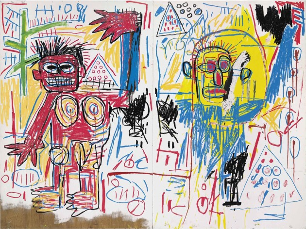 Untitled (diptych) Jean-Michel Basquiat Christie's London- Tuesday, June 25, 2013